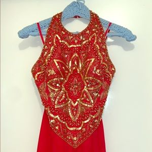 Practically New! Red and Gold Formal Dress!